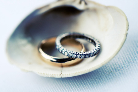 Argollas de Matrimonio de Oro Amarillo y Diamantes