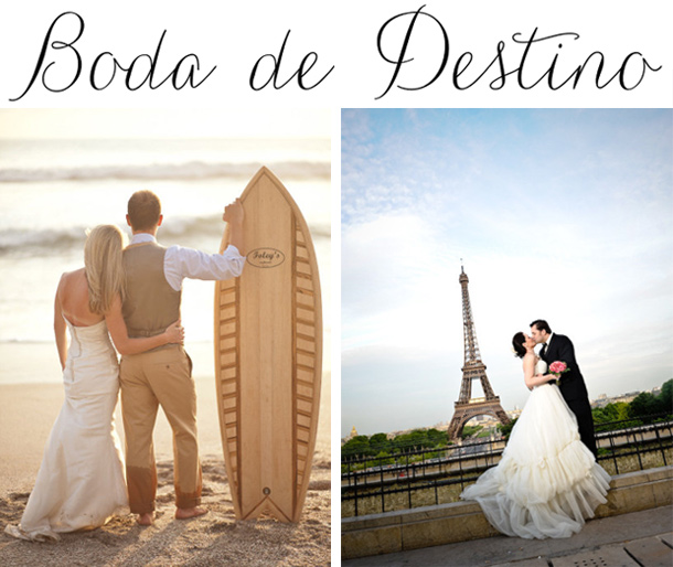 Boda en la Playa o en Paris