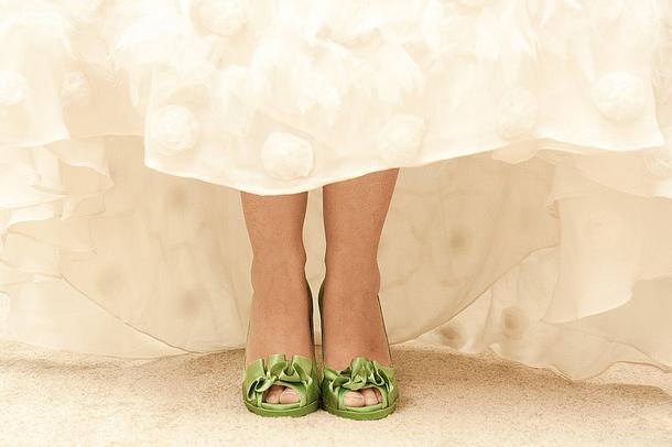 Zapatos Verdes para Novias