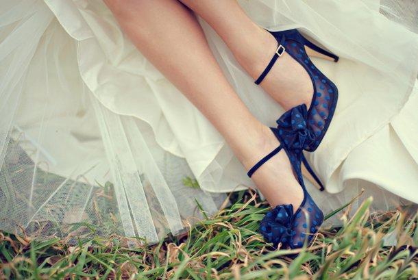 Zapatos azules para novias