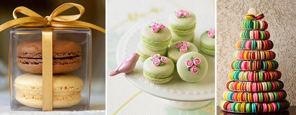 Macarons de Colores para Matrimonio