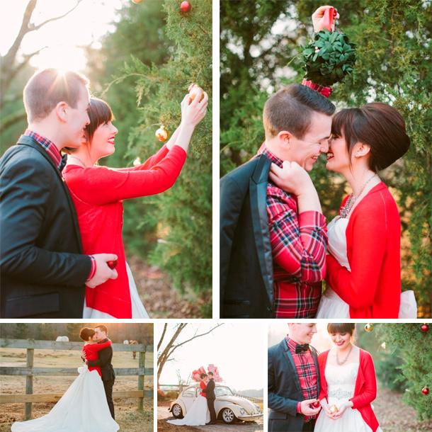 Fotos de un matrimonio en Navidad