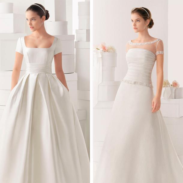 Mangas estilo camiseta para tu vestido de novia