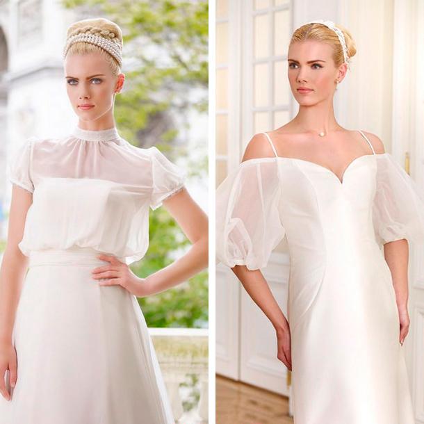 Manga tipo globo para tu vestido de novia