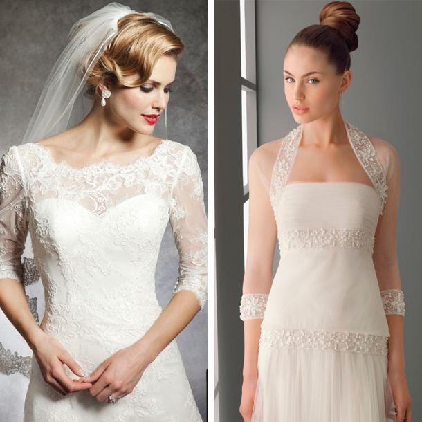 Manga tres cuartos para tu vestido de novia