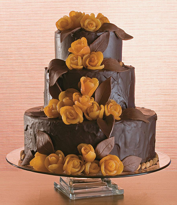 Ganache, torta de matrimonio de chocolate