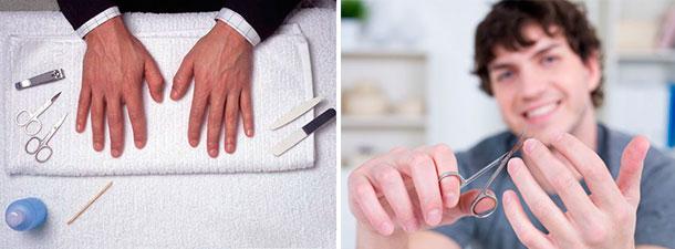 manicure y pedicure para el novio