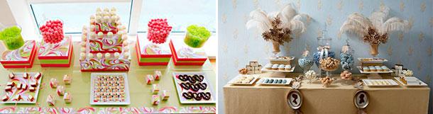 Decoración mesa de postres para tu casamiento