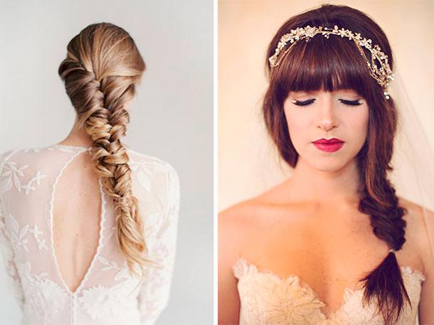 Ideas de peinado para tu casamiento, trenza