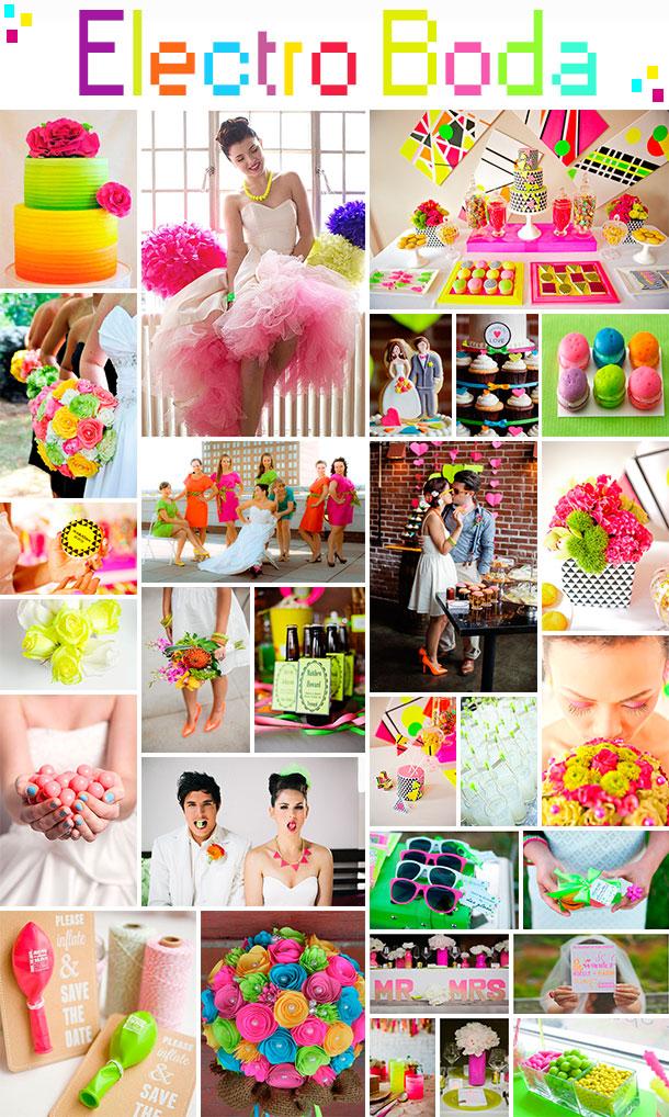 Casamiento Neón, Tu boda en tonos Fluorescente, casamiento estilo 80s, Casamiento estilo retro, matrimonio electro