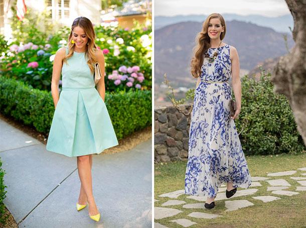 Hermosas ideas de vestidos para las invitadas a una boda al aire libre