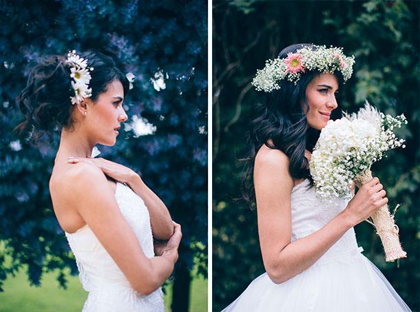 Tocado con flores para tu boda