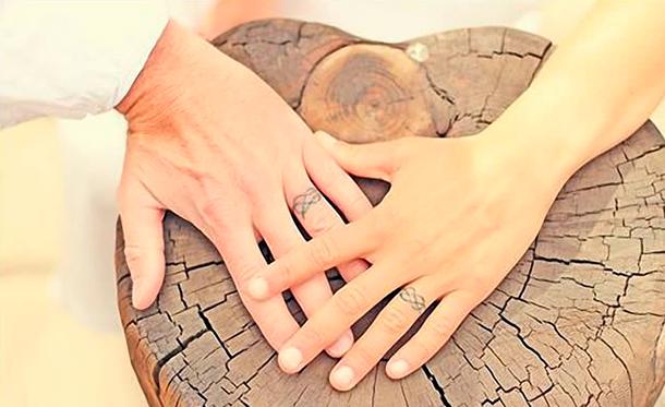 Argollas Tatuadas de Matrimonio