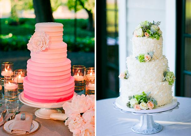 Pastel para tu boda con forma circular