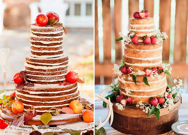 Torta de matrimonio estilo rústico. Naked Cake para tu boda o casamiento