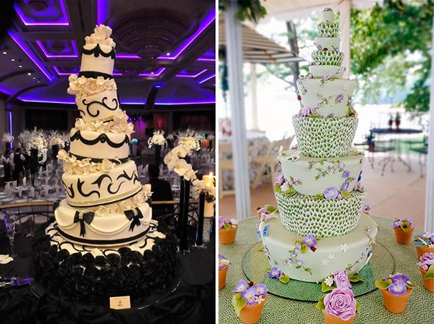 Pastel con forma irregular para tu boda. Wedding cake Topsy-turvy