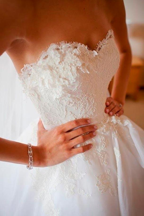 Cómo lucir más delgada en tu vestido de novia