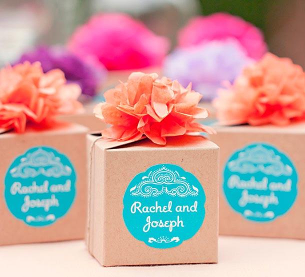 Recordatorios comestibles para tu boda