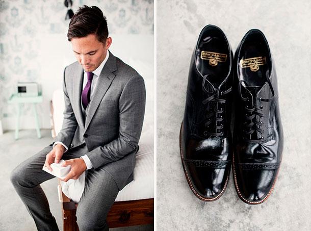Guía completa para comprar tu traje de novio. Tips para elegir los zapatos y accesorios para tu boda