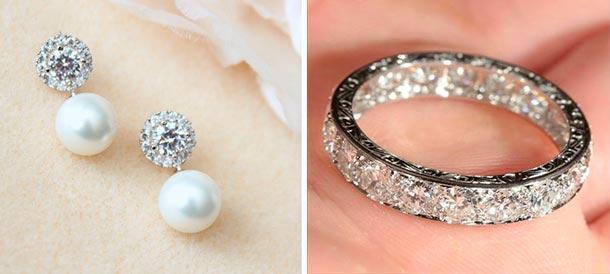 Lista de accesorios para tu boda. Argollas de matrimonio, anillos de compromiso, aretes y collares de novia