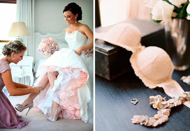 Lista de accesorios para tu boda. Lencería de novia