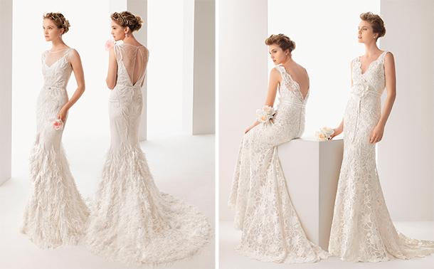 Espaldas descubiertas en los vestidos de novia